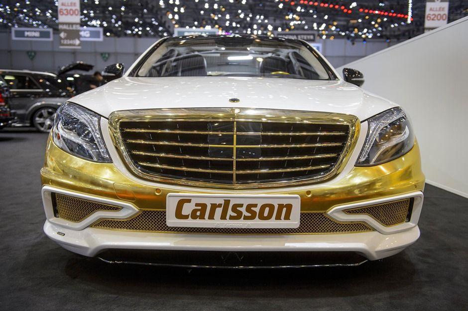 Primeiro carro coberto em ouro é apresentado no Salão de Genebra