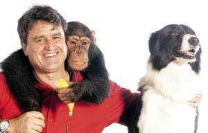 Gilberto Miranda adestra animais para o cinema e para a TV /