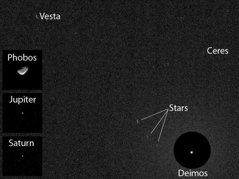 Asteroides registrados pelo Curiosity são o destino da missão Dawn, da Nasa / Foto: Nasa