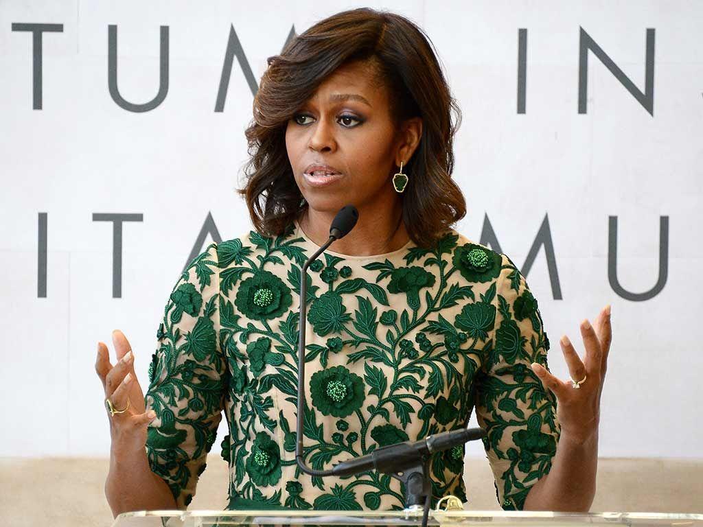 Michelle Obama foi alvo de provocação do grupo extremista / Michael Loccisano/Getty Images North America/AFP/Arquivo