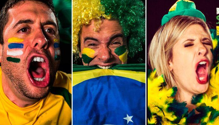 Mau Meirelles, Marco Luque e Dani Calabresa no clima da Copa / Divulgação/Instagram