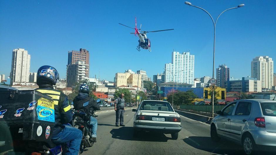 Explosão aconteceu na região da Lapa, na zona oeste / Ouvinte/SulAmérica Trânsito