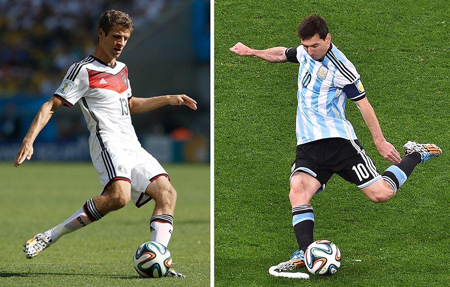 Muller e Messi são as esperanças de gols de seus países / Gabriel Bouys e Adrian Dennis/AFP