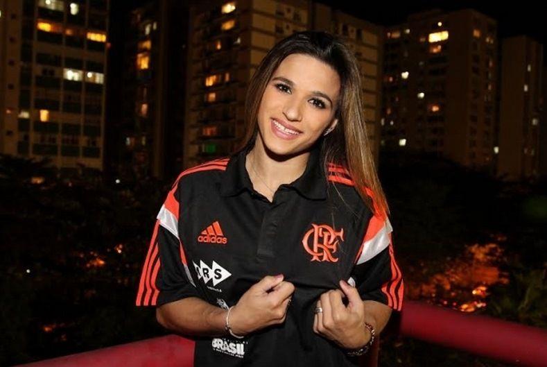 Jade Barbosa volta a integrar a equipe de ginástica do Flamengo / Divulgação Flamengo
