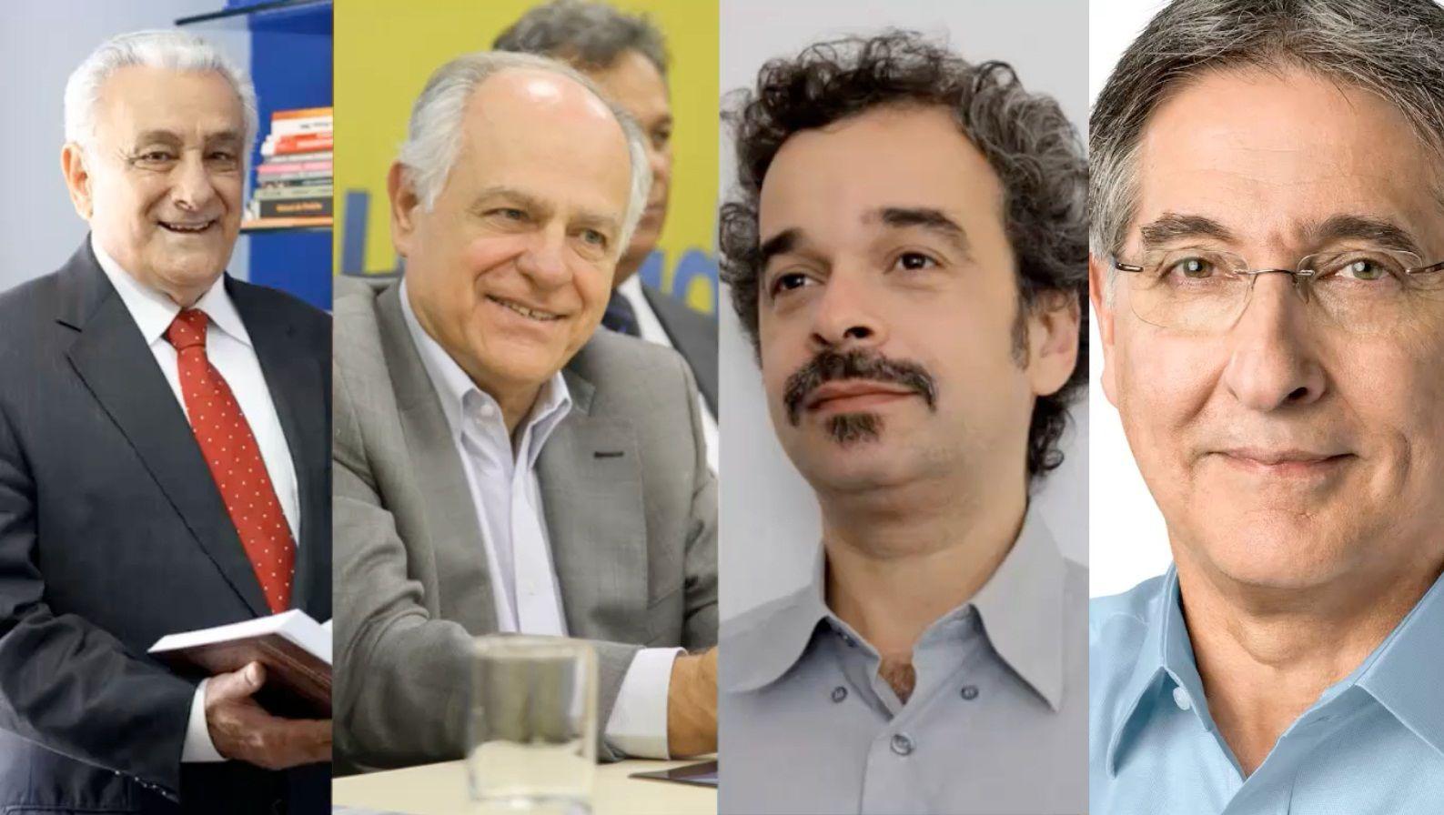 Tarcísio Delgado (PSB), Pimenta da Veiga (PSDB), Fidelis Alcântara (PSol) e Fernando Pimentel (PT) / Divulgação