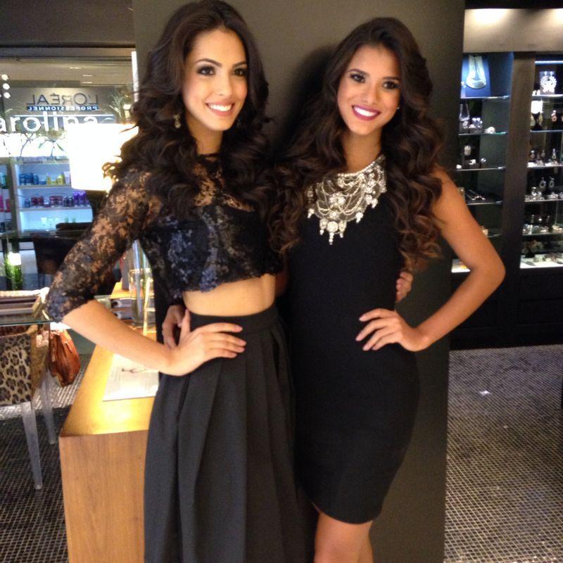 Miss São Paulo e Miss Brasil posam para foto juntas