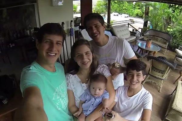 Filhos de Campos gravaram vídeo para o pai / Reprodução