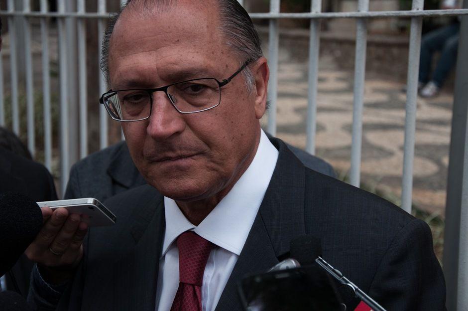 Alckmin disse que está muito triste com a morte de Campos / Kevin David/Brazil Photo Press/Folhapress