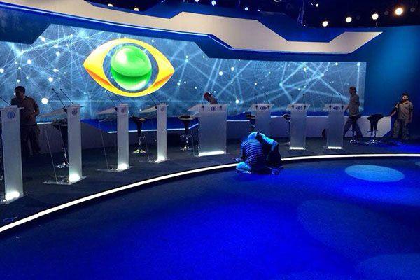 Veja os estúdios da Band para o debate - Band.com.br