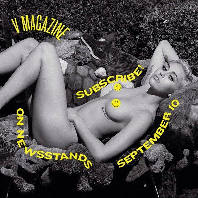 Miley Cyrus posa completamente nua em capa de revista / Divulgação/Instagram