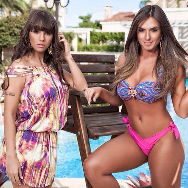 Nicole Bahls e Carol Dias