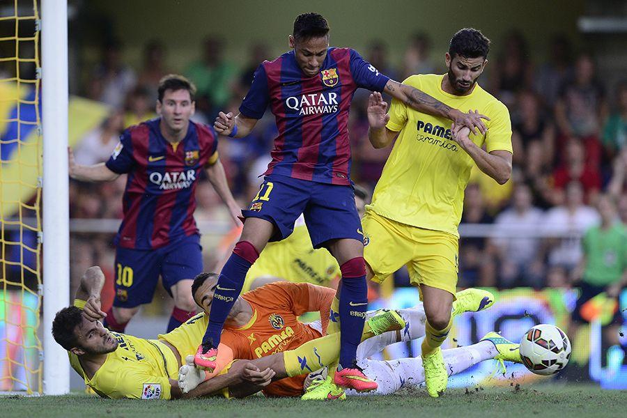 Neymar teve boa atuação no duelo com o Villarreal / Josep Lago/AFP