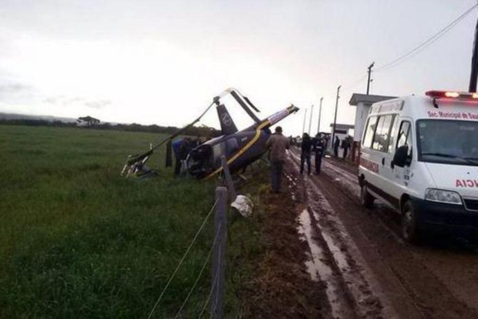 Helicóptero caiu próximo a uma festa tradicional da região / BandNews