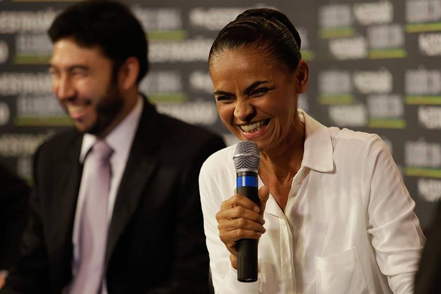 Marina Silva durante entrevista ao Estad�o / Folhapress