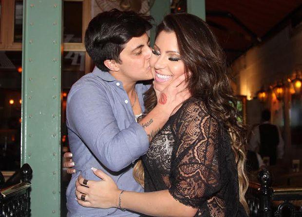 Thammy Miranda e a namorada Andressa Ferreira