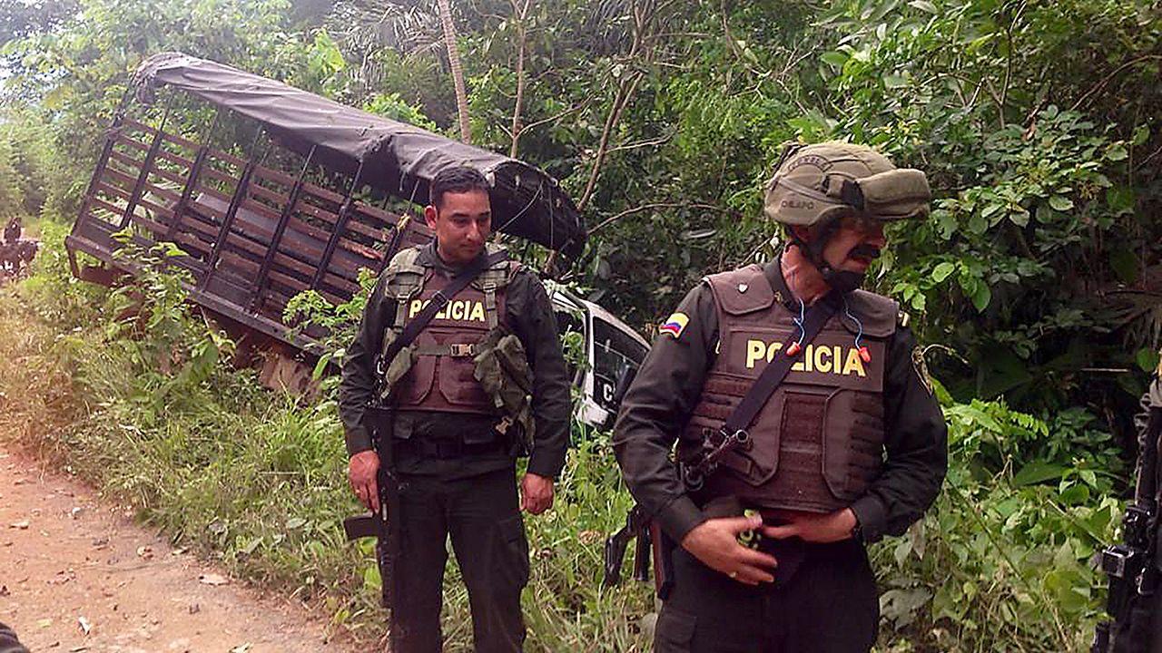 O presidente colombiano deu ordem de intensificar ofensiva contra às Farc / HO/Polícia Nacional da Colômbia/AFP