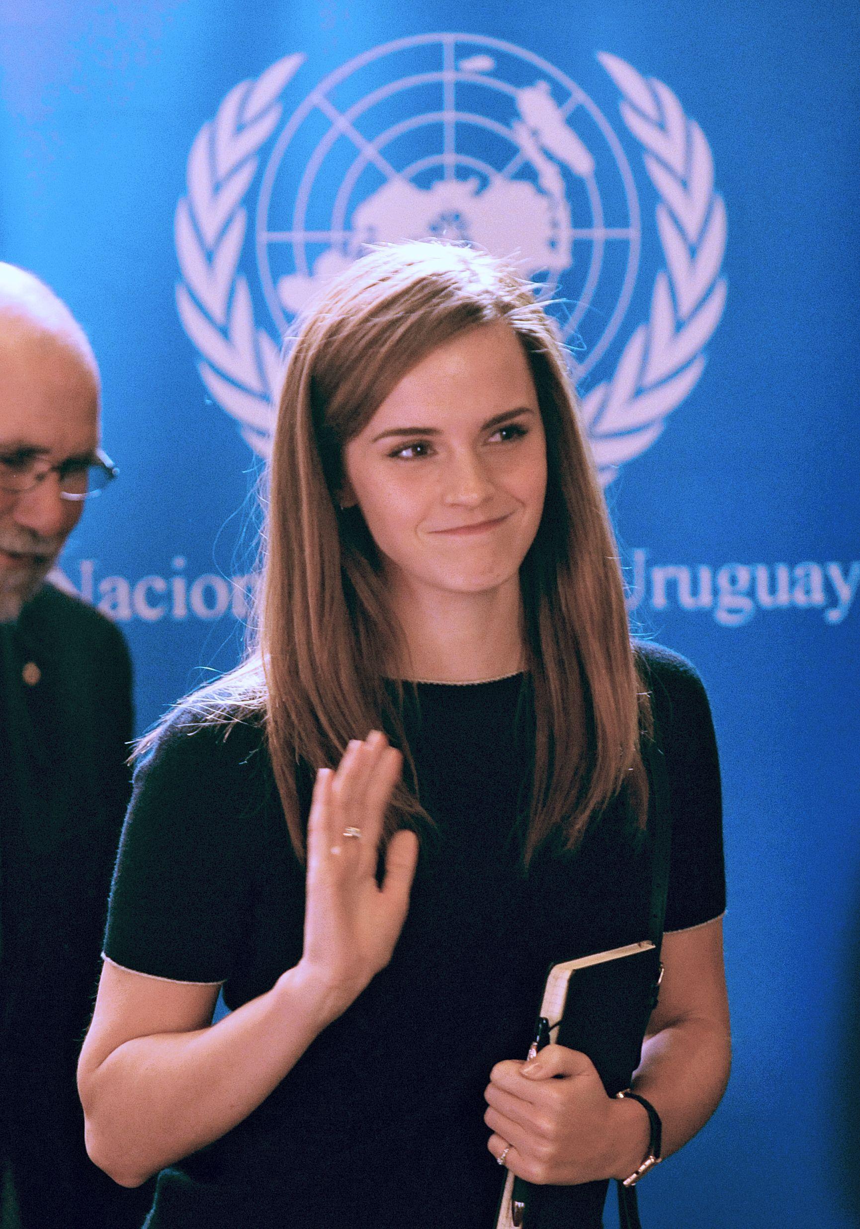 Emma Watson é a Embaixadora da Boa Vontade / MIGUEL ROJO/AFP