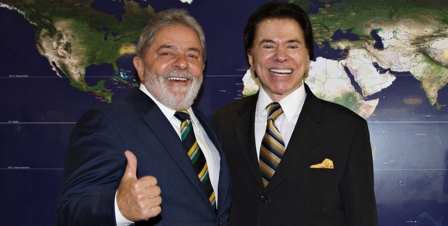 Sílvio Santos aparece na frente do ex-presidente Lula / Foto: Ricardo Stuckert/PR