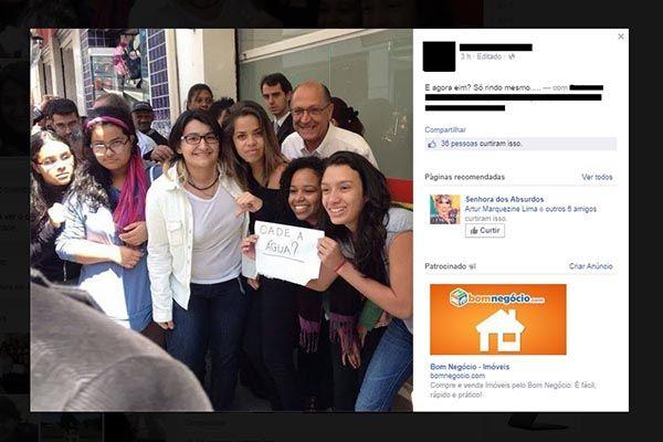 Geraldo Alckmin é trollado por estudantes em SP / Reprodução/Facebook