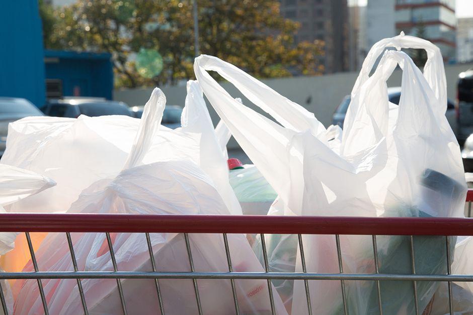 Sacolinhas plásticas tradicionais estão proibidas nas lojas e supermercados de São Paulo / Fotoarena/Folhapress