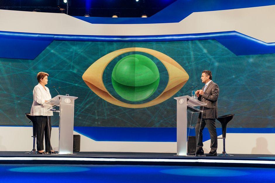 Dilma e Aécio se enfrentaram pela primeira vez no segundo turno no debate da Band / Filipe Redondo/Band