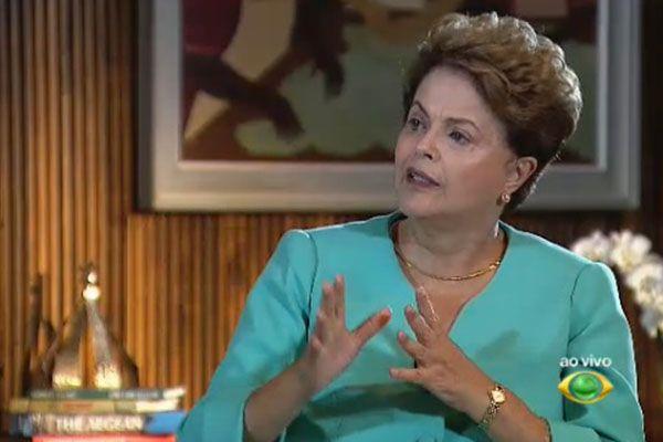 Dilma Rousseff em entrevista ao Jornal da Band / Reprodução