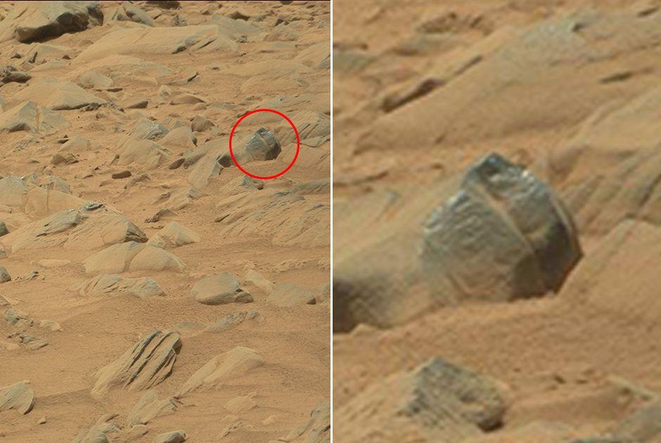 Suposto petróglifo na superfície marciana / Nasa/Divulgação