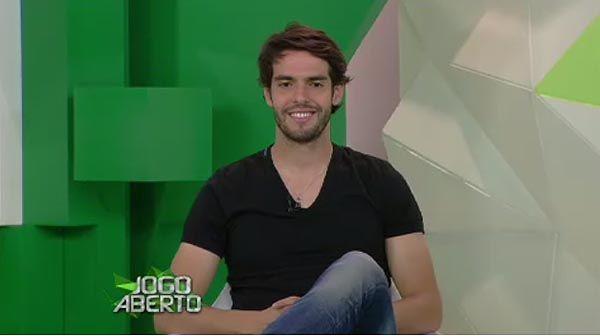 Kaká durante participação no Jogo Aberto / Reprodução/Band