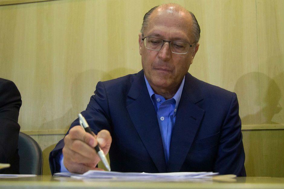 Alckmin aproveitou para fazer ataques ao governo do PT / Leonardo Benessatto/Futura Press/Folhapress