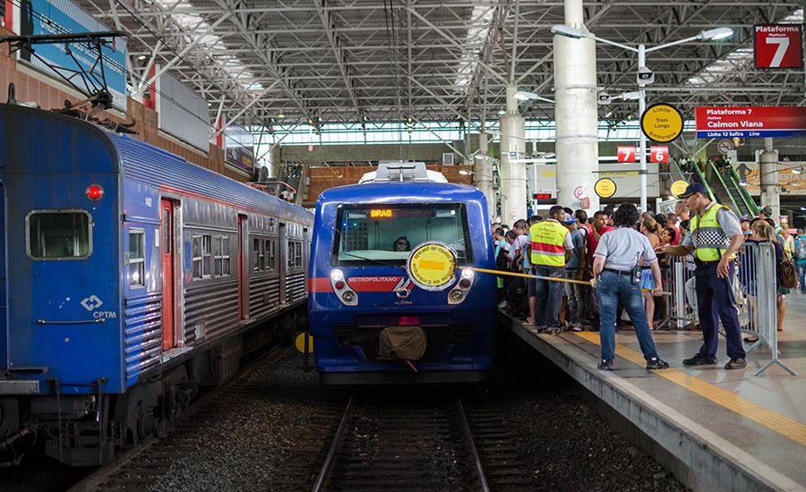 Movimentação na Estação do Brás da CPTM /  Rogerio Cavalheiro/Futura Press/Folhapress