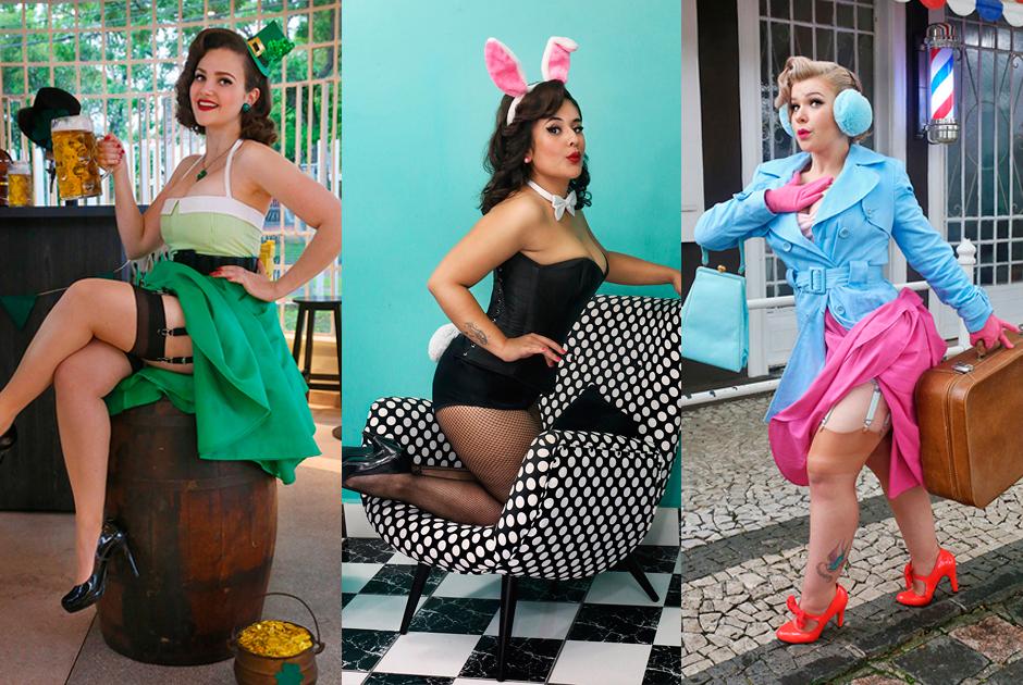 Modelos posam como pin-ups para calendário 2016
