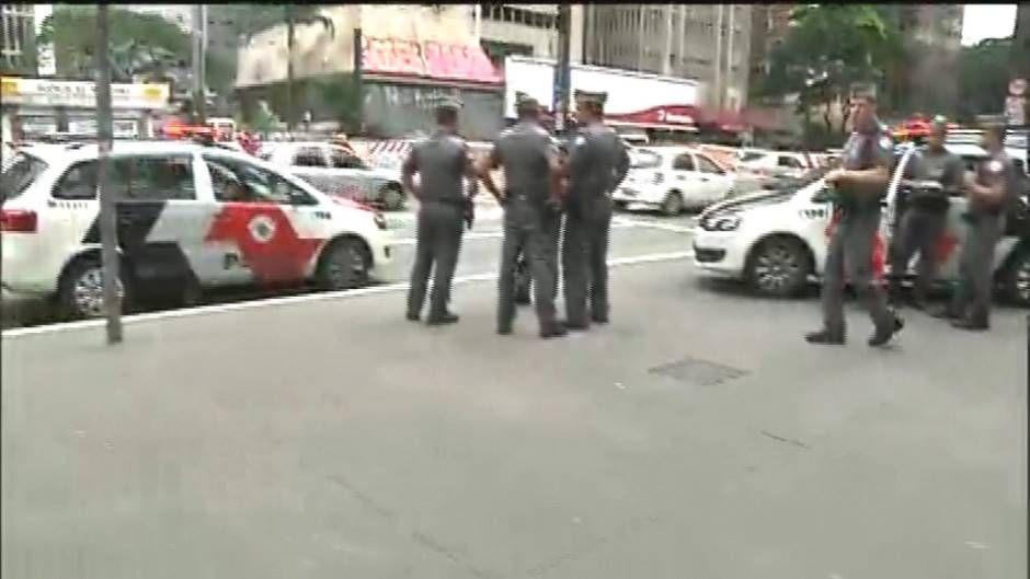 Dois criminosos fugiram após roubo ao Santander da Avenida Paulista / Reprodução/Brasil Urgente