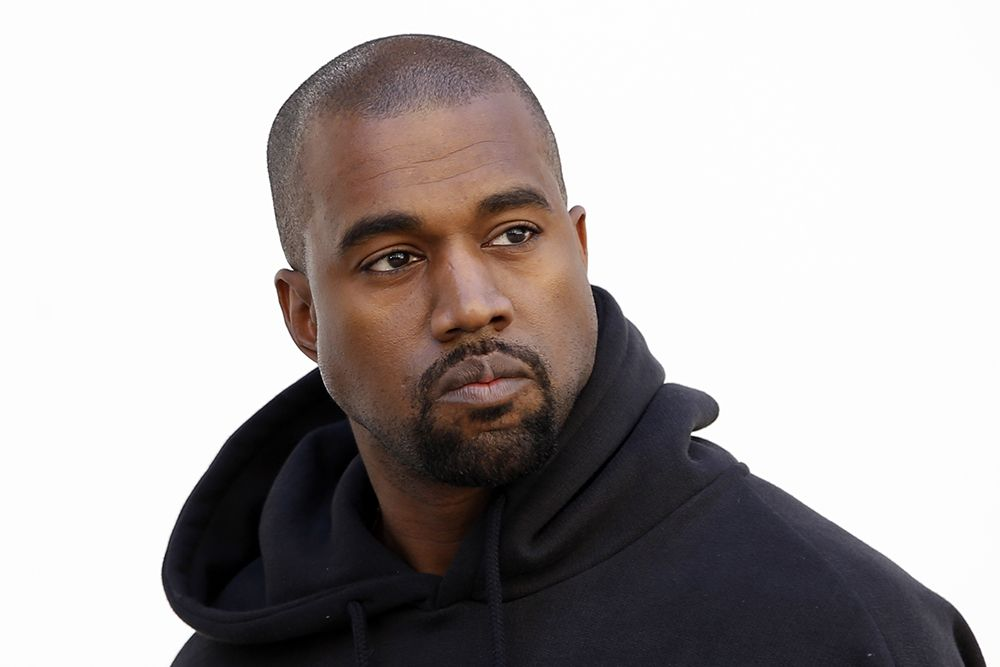 Kanye West durante a Paris Fashion Week / Charles Platiau/Reuters