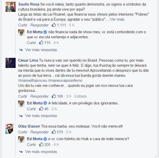 Ed Motta responde aos fãs