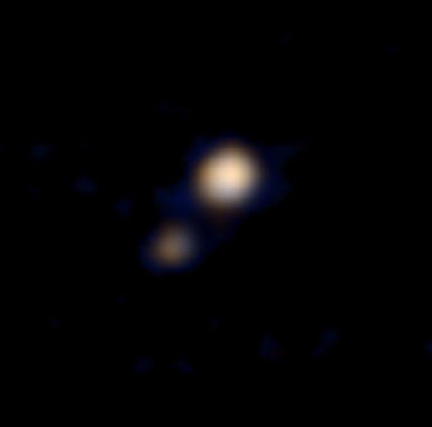 Imagem não mostra detalhes de Plutão, mas é marco para a missão / NASA / AFP