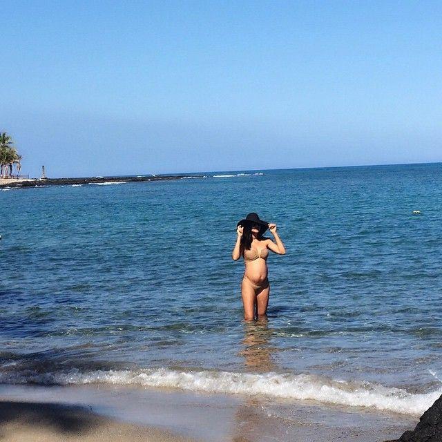 Naya Rivera exibe barrigão de grávida / Divulgação/Instagram