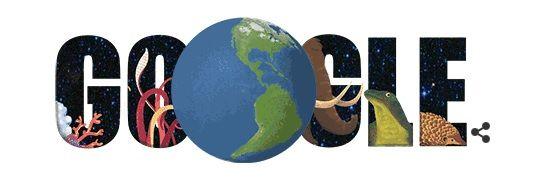 Doodle Google comemora o Dia da Terra