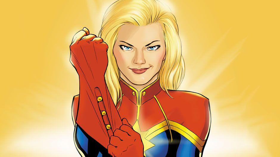 Desenho oficial da Capitã Marvel / Divulgação/marvel.com
