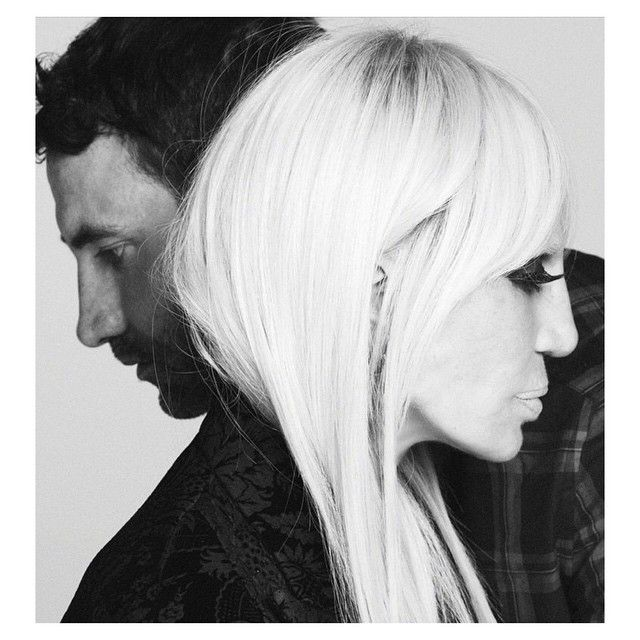 Donatella Versace e Riccardo Tisci / Divulgação/Instagram