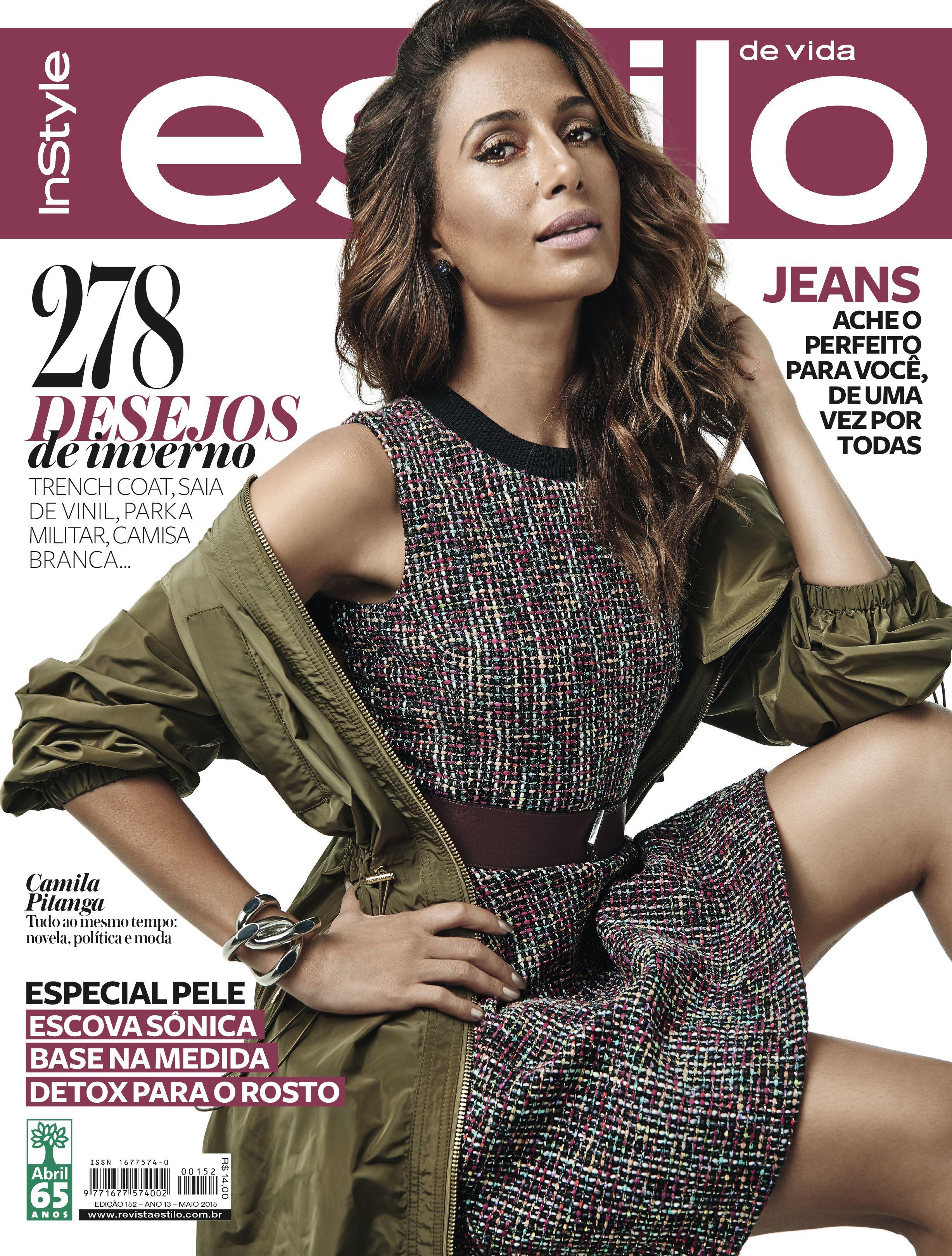 Camila Pitanga é capa da revista Estilo de maio