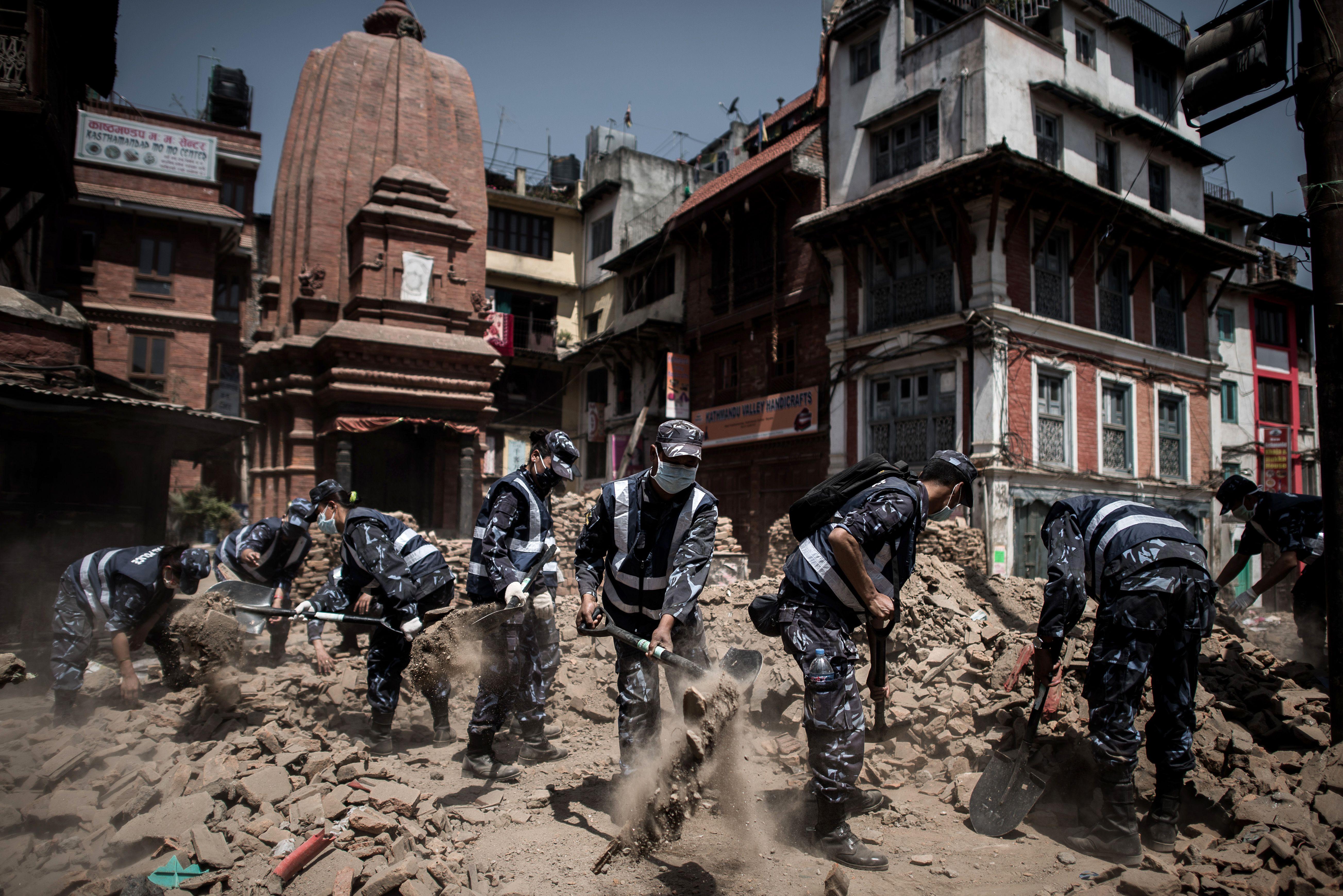 Distrito com a maior quantidade de mortos é o de Sindhupalchok (3.057) / Philippe Lopez/AFP