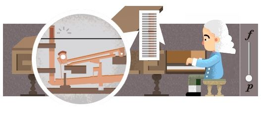Doodle homenageia o inventor Bartolomeo Cristofori / Reprodução/Google
