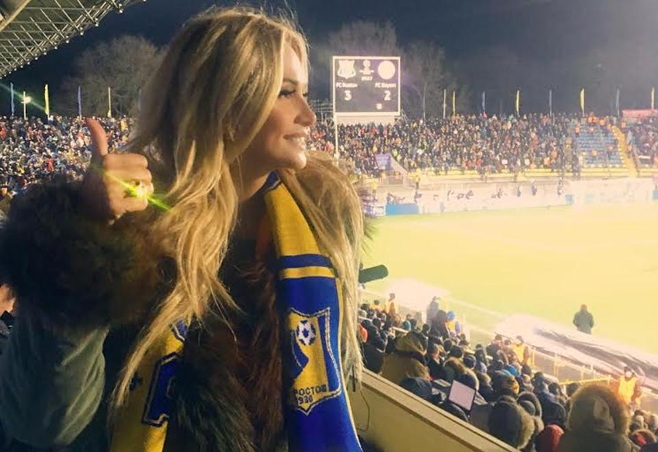 Além disso, a apresentadora de TV é torcedora fanática do FC Rostov, time que está na Liga Europa