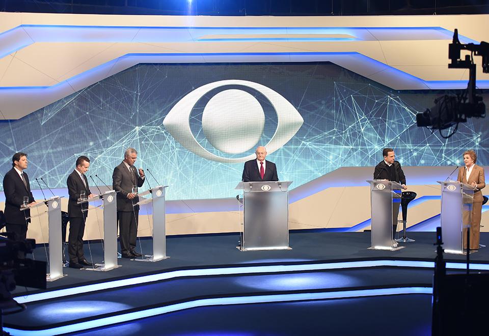 Confira as fotos dos candidatos à prefeitura no debate da Band