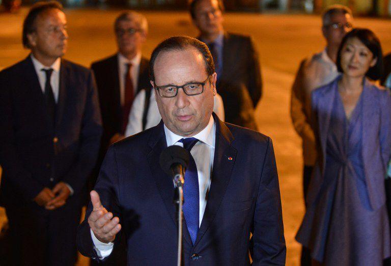 François Hollande discursa após chegar à Cuba / Adalberto Roque/AFP