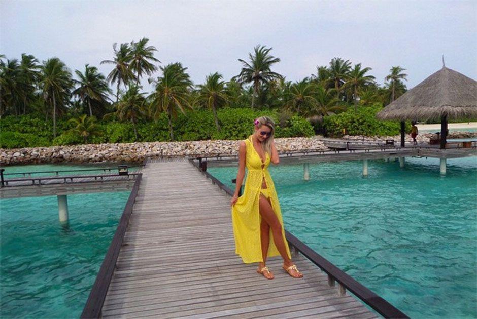 5ce6f6a33 Ana Paula Siebert curte lua de mel nas Maldivas Divulgação Instagram