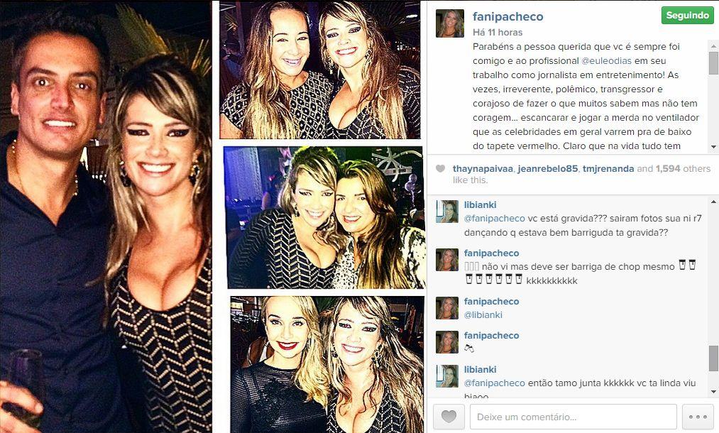 Fani Pacheco nega gravidez em seu Instagram / Divulgação/Instagram