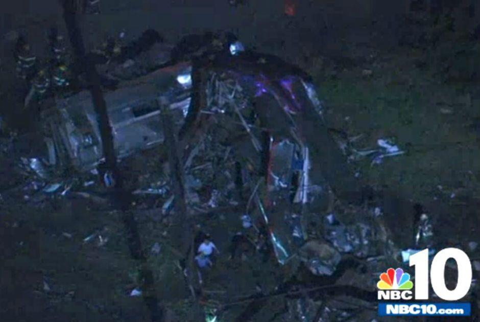 Trem descarrila e deixa feridos nos EUA / Reprodução/NBC