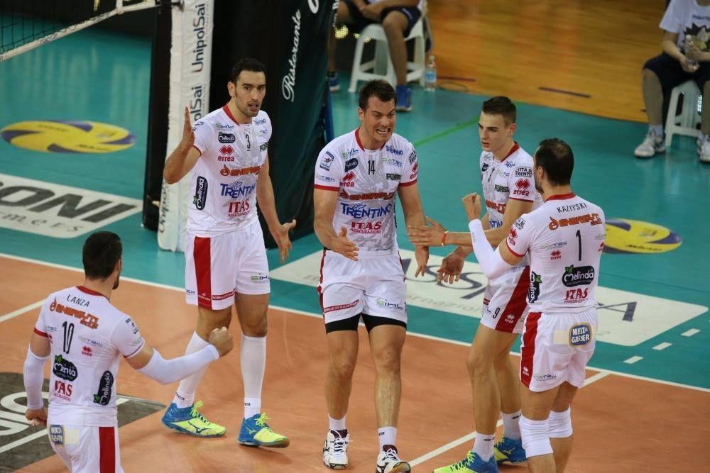 Trentino se impôs diante do Modena e fez 3 a 0 / Divulgação/Facebook