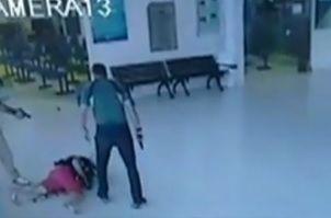 PM baleado é levado ao hospital, mas não corre risco de vida / Reprodução/Jornal da Noite